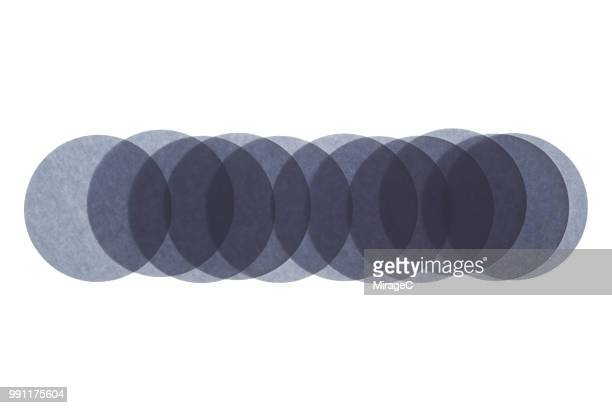 Abstract Backlit Circle Paper