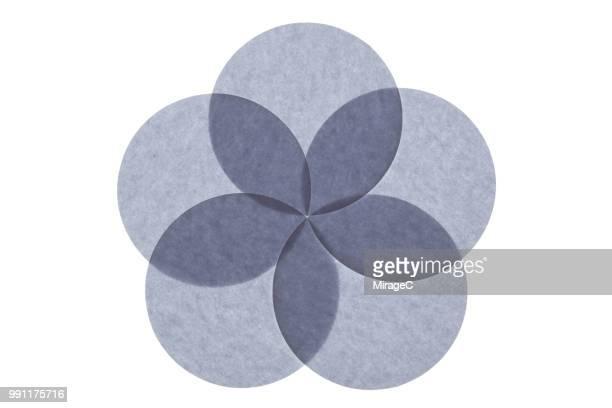 abstract backlit circle paper - cinco objetos - fotografias e filmes do acervo