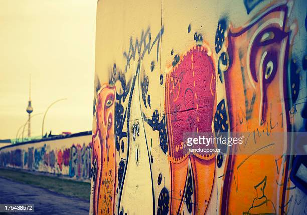 Abstract berlin wall graffiti - Germany