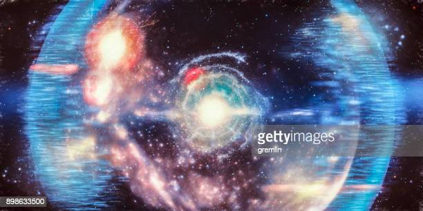 abstract big bang conceptual image - nebula stock pictures, royalty-free photos & images