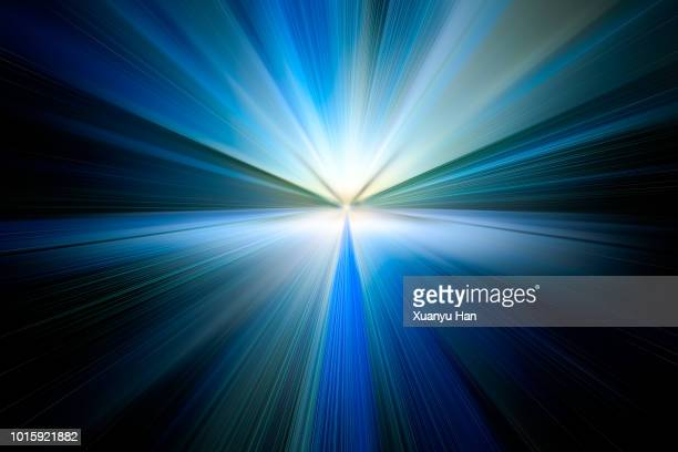 abstract big data, fiber optic light painting on black background. - image stock pictures, royalty-free photos & images