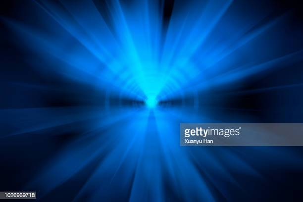 abstract big data, fiber optic light painting on black background. - lighting equipment stock pictures, royalty-free photos & images