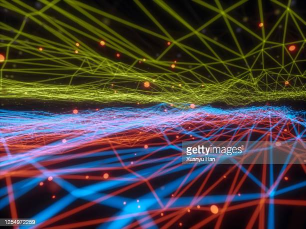 abstract big data lines - deep learning stock pictures, royalty-free photos & images