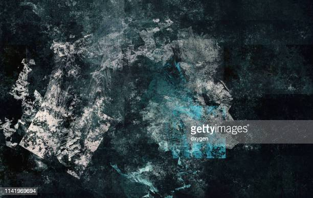 abstract black and white stucco texture background on canvas - oil painting stock pictures, royalty-free photos & images