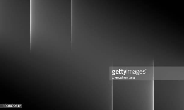 abstract black&white staggered wide lines background - quadratisch komposition stock-fotos und bilder