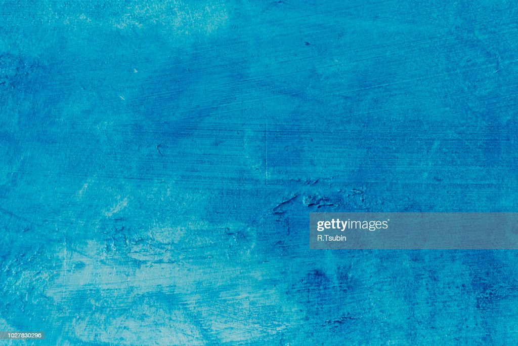 abstract blue background texture concrete or plaster hand made wall : Stock Photo
