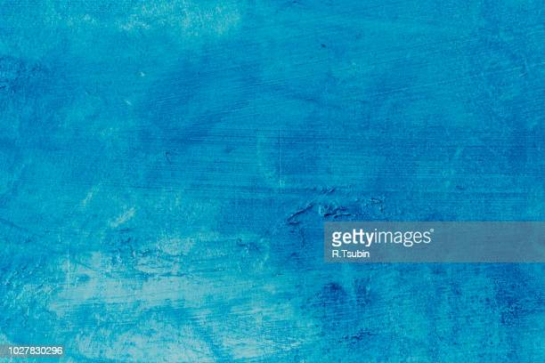 abstract blue background texture concrete or plaster hand made wall - bleu photos et images de collection