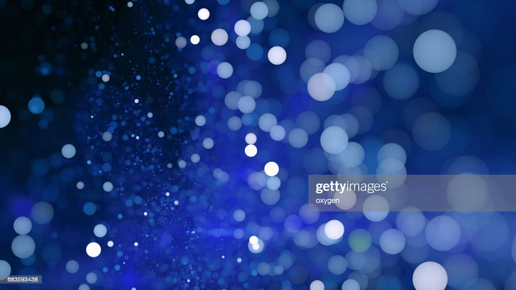Abstract blue bokeh sparkling spray circle : Stock Photo
