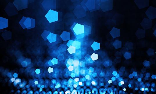 Abstract blue bokeh sparkling spray Hexagon - gettyimageskorea