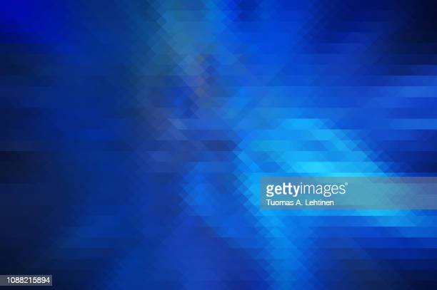 abstract blue colored triangle background - saturated colour stock pictures, royalty-free photos & images