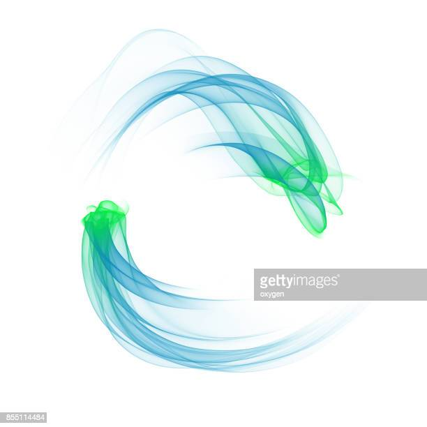 abstract blue element, wave, isolated on white background - escorrer - fotografias e filmes do acervo