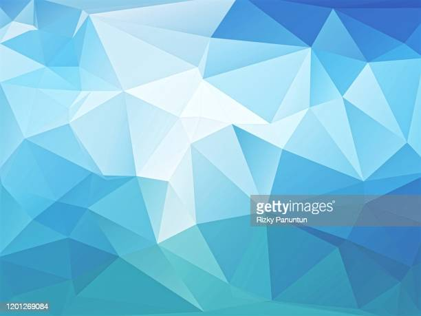abstract blue geometric polygon background - two dimensional shape stock pictures, royalty-free photos & images
