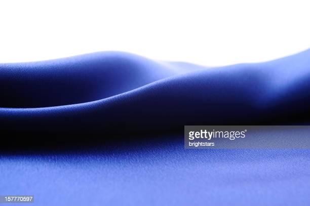 Abstract blue satin