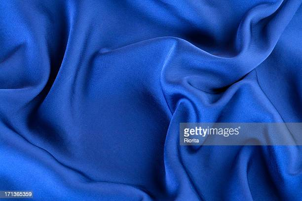 Abstract blue silk background