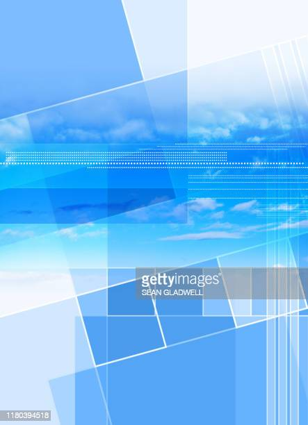 abstract blue sky cover - cover design stock pictures, royalty-free photos & images