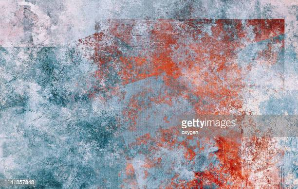 abstract blue stucco texture background on canvas - red white blue background stock pictures, royalty-free photos & images