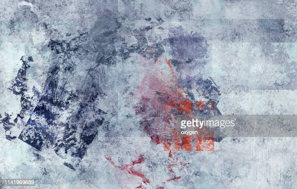 abstract blue stucco texture background - red and blue background stock pictures, royalty-free photos & images