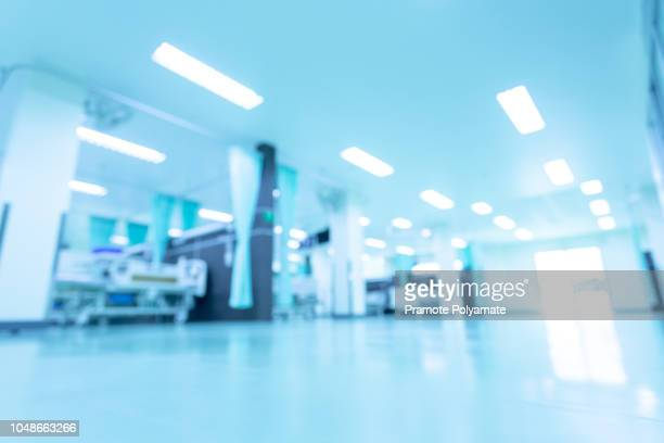 abstract blur beautiful luxury hospital interior for backgrounds - hospital fotografías e imágenes de stock