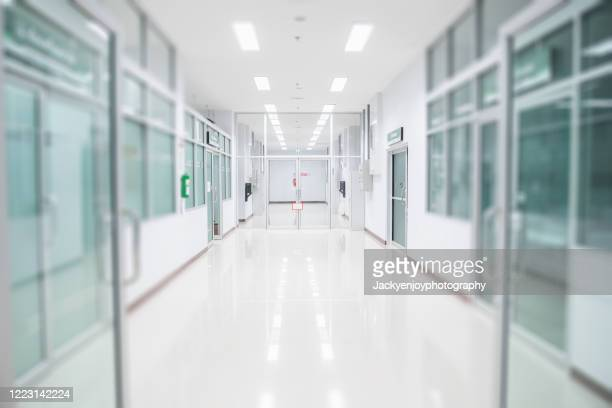 abstract blur beautiful luxury hospital interior for backgrounds - ziekenhuis stockfoto's en -beelden