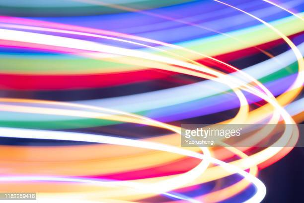 abstract blurry neon light background and wallpaper - length stock pictures, royalty-free photos & images