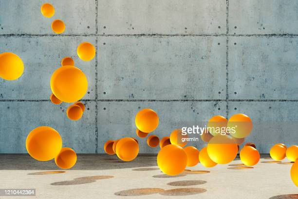 abstract bouncing spheres - ball stock pictures, royalty-free photos & images