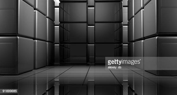 Abstract box room - modern architecture space
