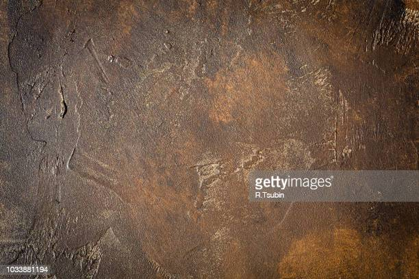 abstract brown chocolate metallic background texture concrete or plaster hand made wall - チョコレート ストックフォトと画像