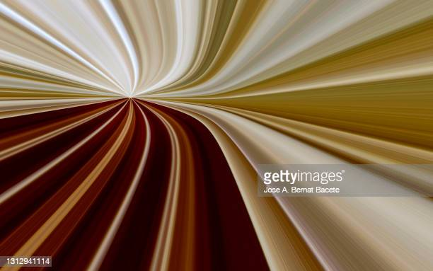 abstract brown color background with infinite light curve lines with vanishing point. - brown stock pictures, royalty-free photos & images