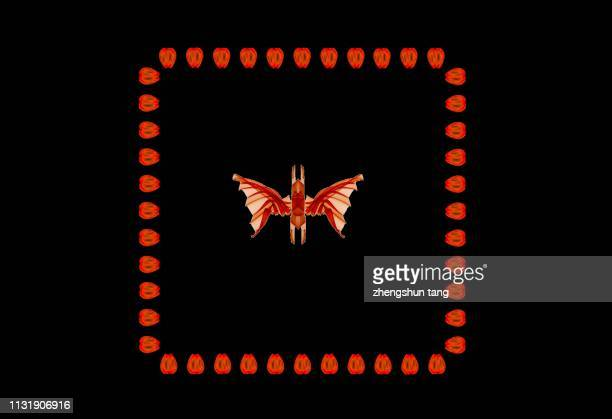 Abstract butterfly in rectangle