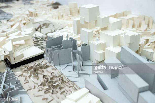 抽象的な段ボールモデル - 建築模型 ストックフォトと画像