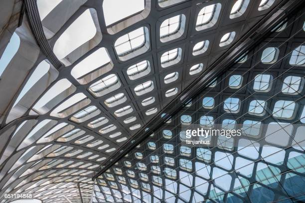 abstract ceiling of modern architecture