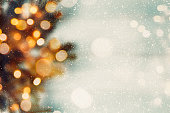 Abstract Christmas composition