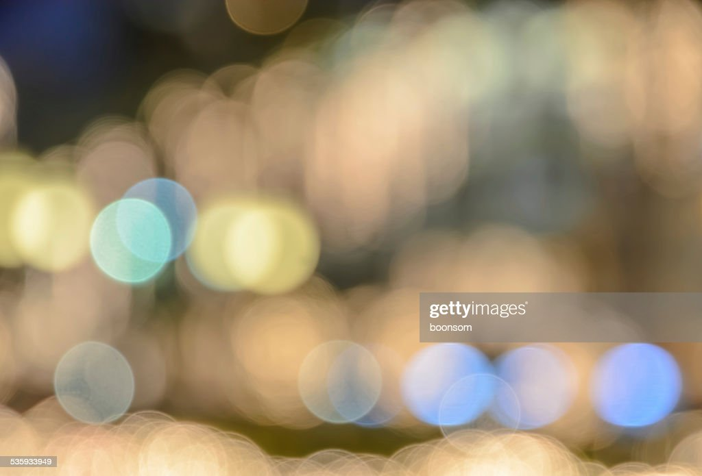 Abstract Christmas lights bokeh background : Stock Photo
