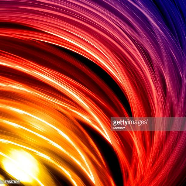 Abstract circular lights in motion
