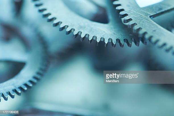abstract clockwork background - clocks go forward stock pictures, royalty-free photos & images