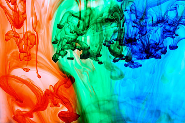 Abstract colored dye in water