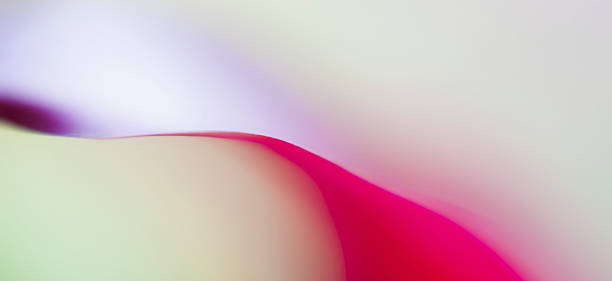 Abstract colored forms and light