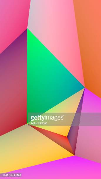 Abstract colorful and geometric shapes.