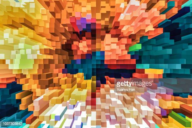 abstract colorful particle background - creativity stock-fotos und bilder
