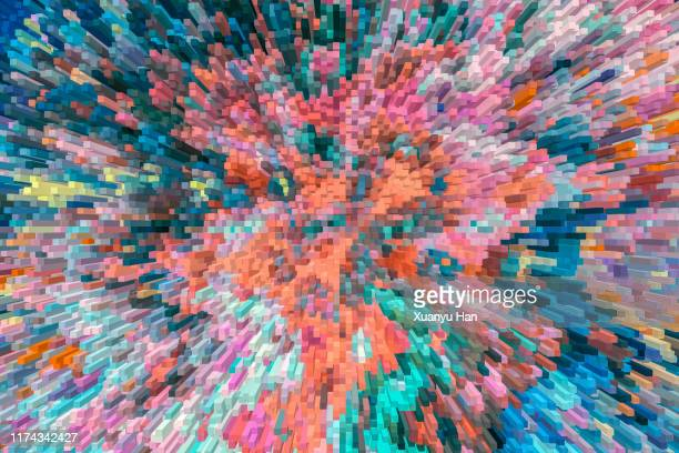 abstract colorful particle background - pixelated stock pictures, royalty-free photos & images