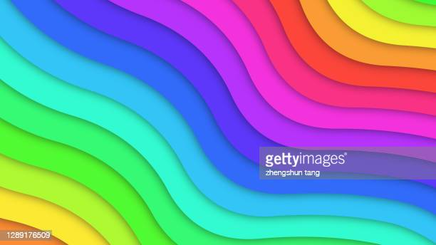 abstract colorful waved shape. - rippled stock pictures, royalty-free photos & images