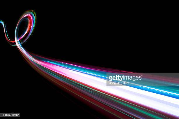 abstract coloured light energy motion trails
