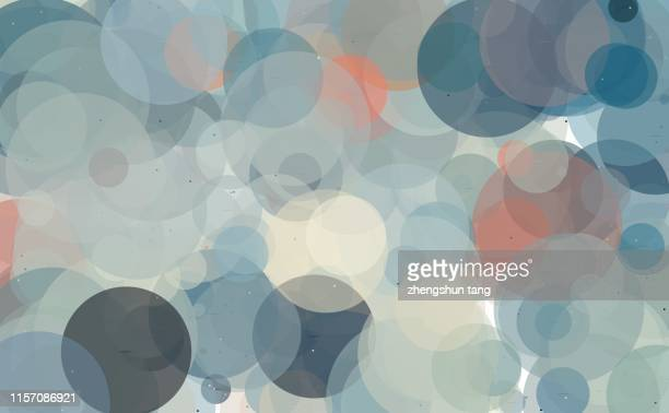 abstract colourful circles - spotted photos et images de collection
