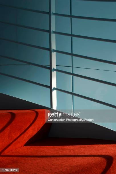 Abstract composition of internal staircase of the Lords cricket ground media centre, London. UK.