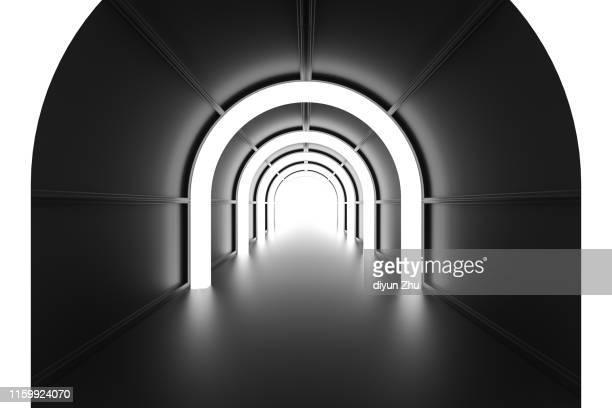abstract corridor,3d render - arco architettura foto e immagini stock