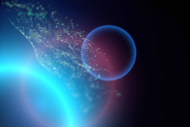 Abstract  cosmic background with sequin bokeh and copy space.