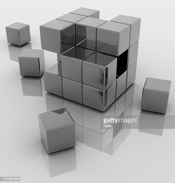 抽象的なキューブ構造
