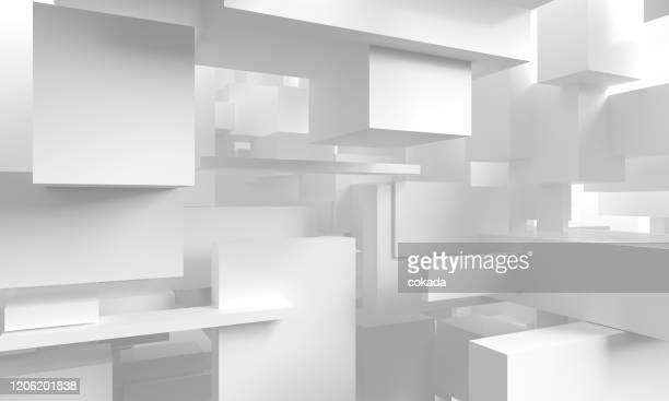 sfondo cubi astratti - tridimensionale foto e immagini stock
