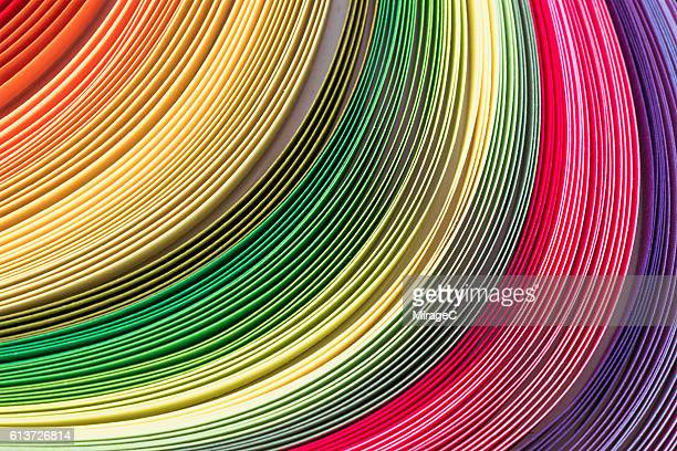 Abstract Curved Colorful Paper