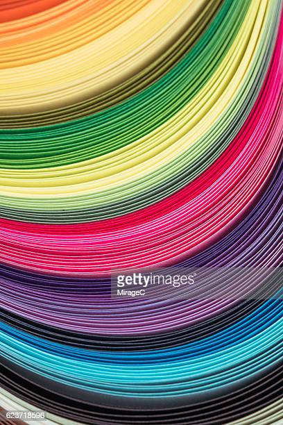 Abstract Curved Rainbow Paper